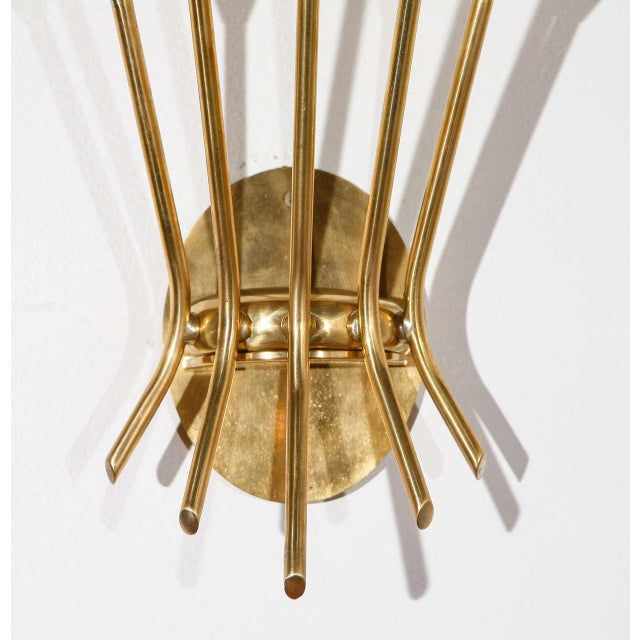 Italian 5 Arm Sconces Attributed to Stilnovo - A Pair For Sale - Image 3 of 10