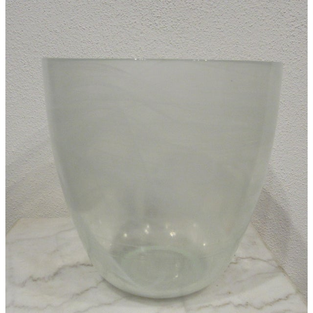 Mid-Century Modern Glass Champagne Bottle Holder Ice Bucket For Sale - Image 3 of 4