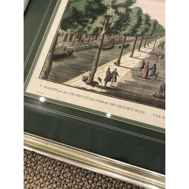 Paper Antique Silver Framed Green Matted Bookplate Etchings - a Pair For Sale - Image 7 of 13