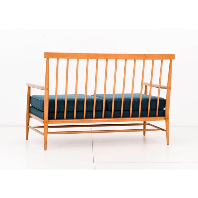 Blue Paul McCobb Settee For Sale - Image 8 of 11