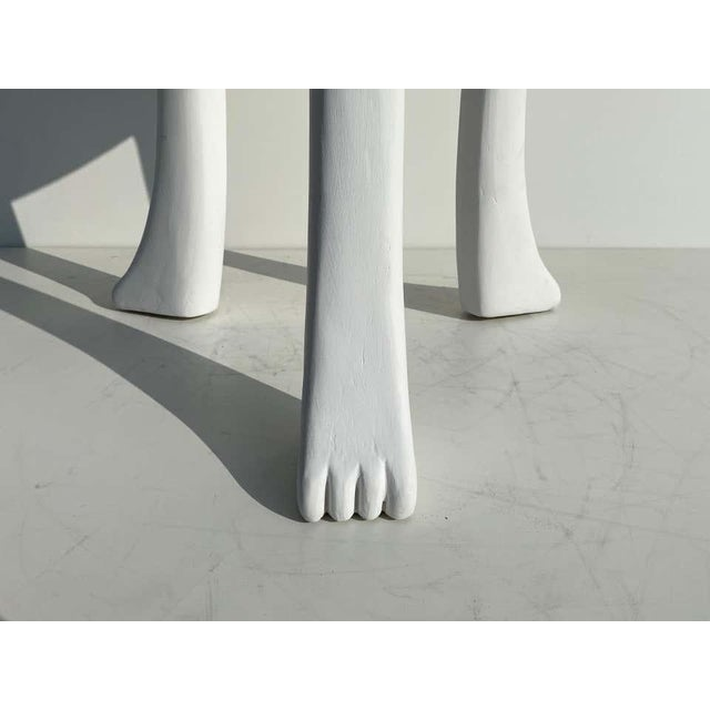 Wood African Side Tables with Feet - a Pair For Sale - Image 7 of 12