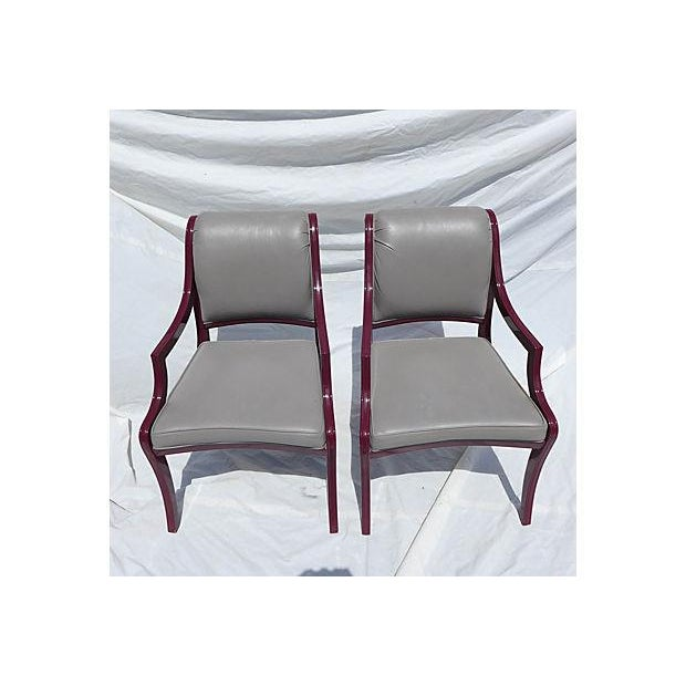 Contemporary Century Hickory Armchairs - Pair For Sale - Image 3 of 7