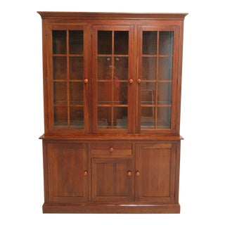 Ethan Allen Mission American Impressions Cherry China Cabinet Breakfront Hutch