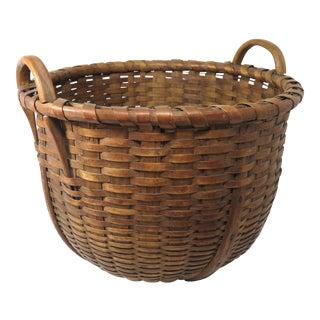 Antique Maine Apple Farm Bushel Basket For Sale
