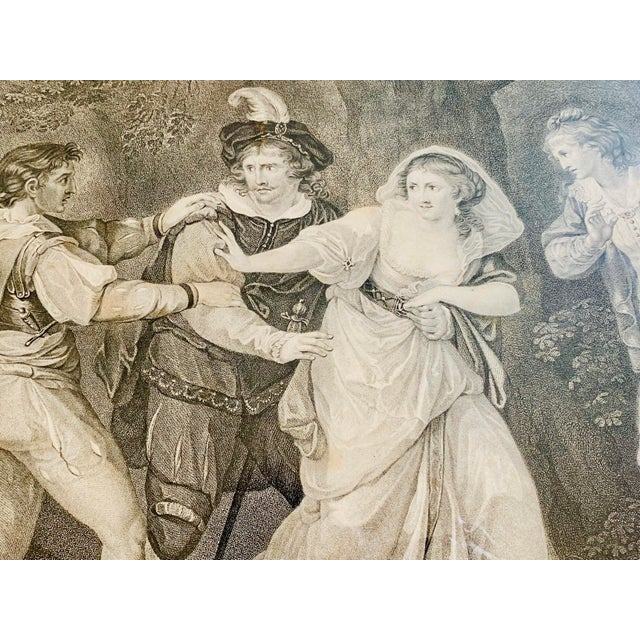 """18th Century English Engraving From Shakespeare's """"Two Gentlemen of Verona"""" For Sale - Image 4 of 13"""