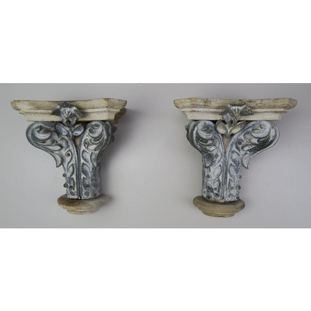 Pair of French Painted Corbels, Circa 1940s For Sale - Image 13 of 13