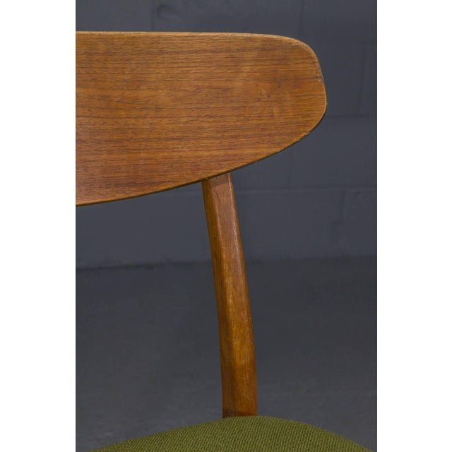 Green Danish Modern Teak Dining Chairs- Set of 4 For Sale - Image 8 of 10