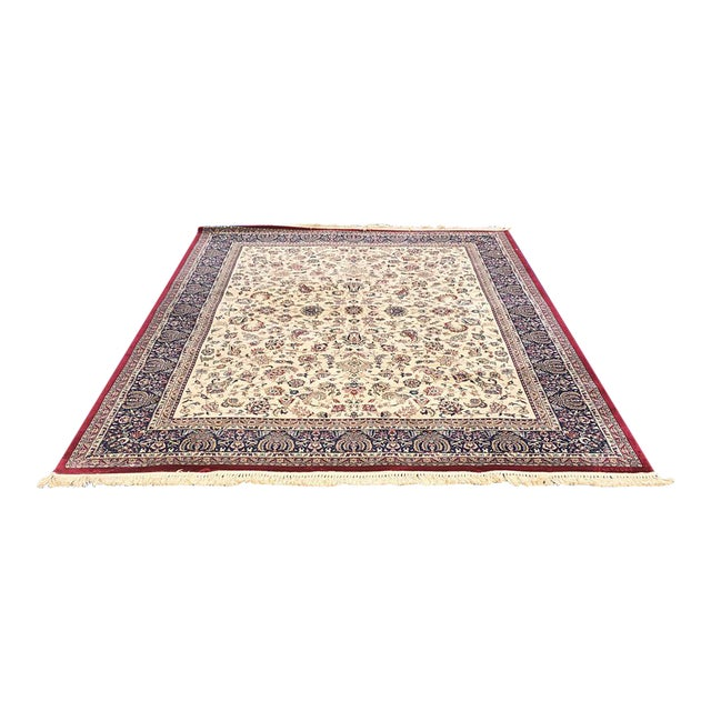 "Traditional Persian Floral Rug - 7'9"" x 11'4"" - Image 1 of 6"