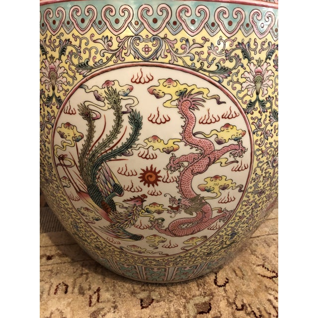 Large Ceramic Chinese Planter For Sale - Image 4 of 11