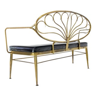 Early 20th Century Solid Brass Scallop Back Bench Preview
