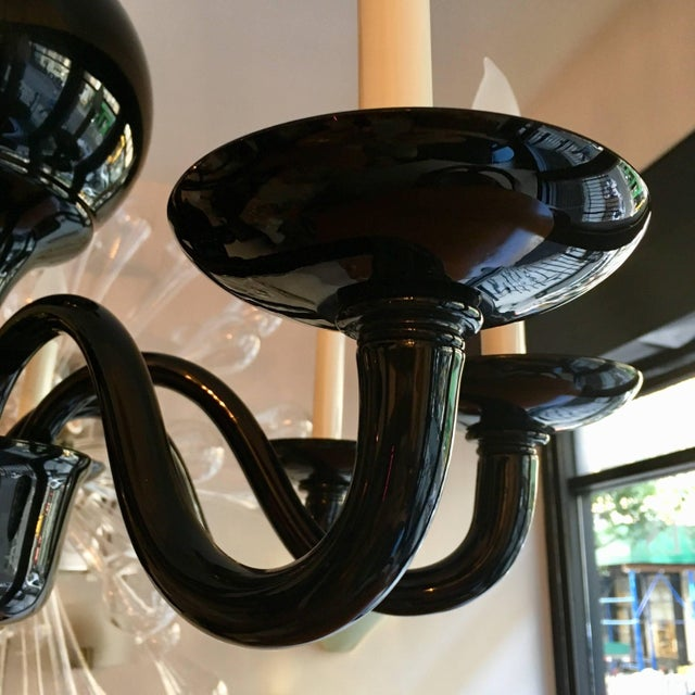 Venetian Murano 1970s Glass Italian Midcentury Chandelier For Sale - Image 10 of 11