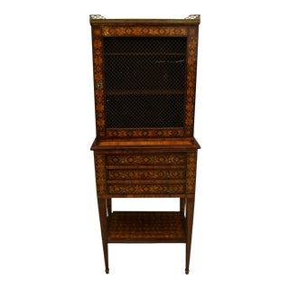 19th Century Antique Italian Parquetry Bookcase For Sale