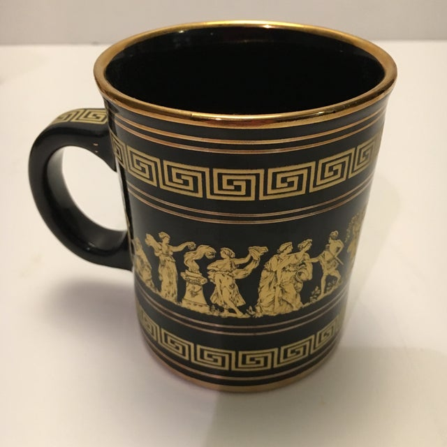 Neofitou 24k Gold Greek Key Mugs - Set of 4 - Image 3 of 9
