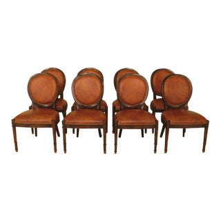 Set of 8 Baker Milling Road Louis XV Dining Room Chairs For Sale