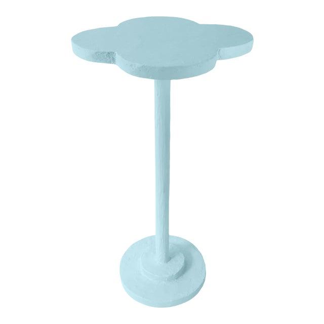 Atrium Accent Table in Blue Stream For Sale