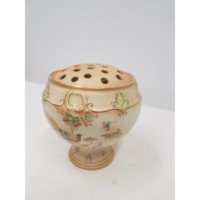 English Antique English Ornate Flower Frog For Sale - Image 3 of 11