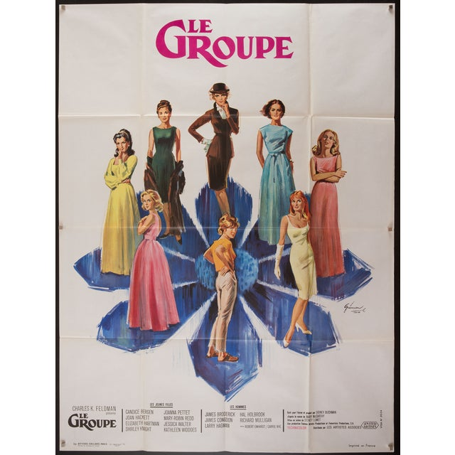 "Original 1966 vintage French poster for the film adaptation of Mary McCarthy's best-seller ""The Group"". This film was..."