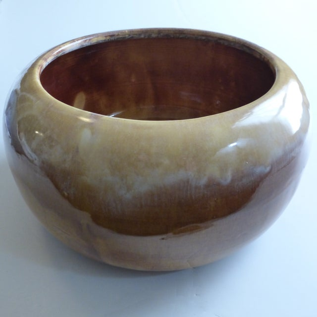 Miali California Ceramic Drip Glaze Pottery Planter For Sale - Image 11 of 11