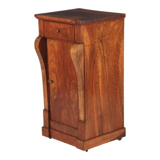 Early 19th Century French Restoration Period Walnut Bedside Cabinet For Sale