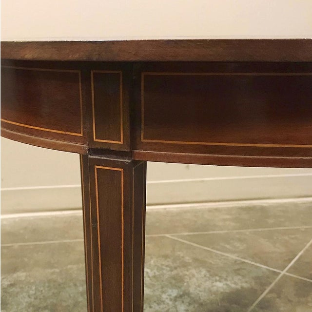 Wood Antique French Mahogany Directoire Inlaid End Table For Sale - Image 7 of 10