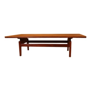 Mid Century Jens Risom Floating Top Coffee Table Bench For Sale