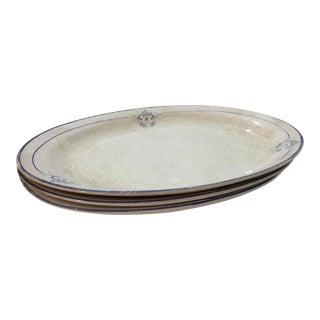 Vintage Homer Laughlin Empress China Plates - Set of 3 For Sale