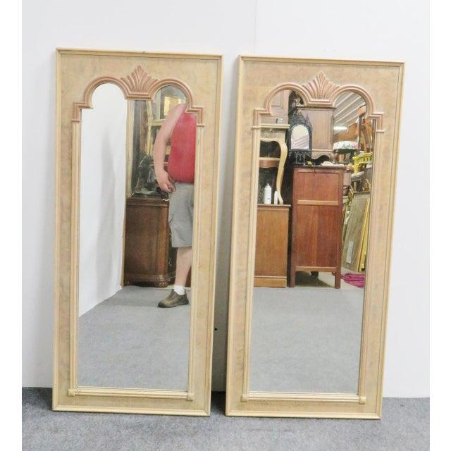 Mid 20th Century Thomasville Italian Style Burlwood Mirrors - a Pair For Sale - Image 5 of 5