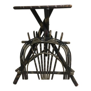 Adirondack Twig Smoking Table For Sale