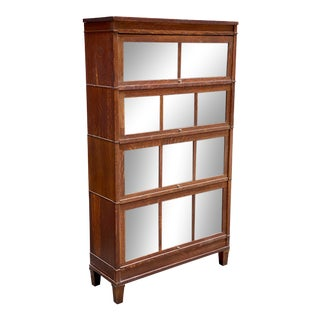 Macey Tiger Oak Barrister Book Case For Sale