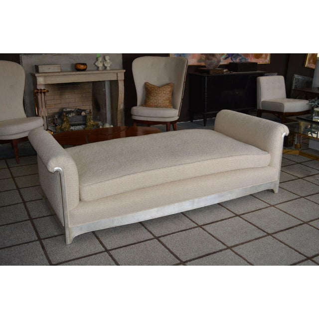 Art Deco / Moderne Silver Leafed Daybed For Sale - Image 4 of 9
