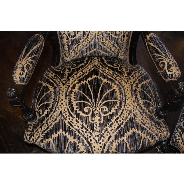 Textile Pair of Victorian French Slipper Chairs For Sale - Image 7 of 9