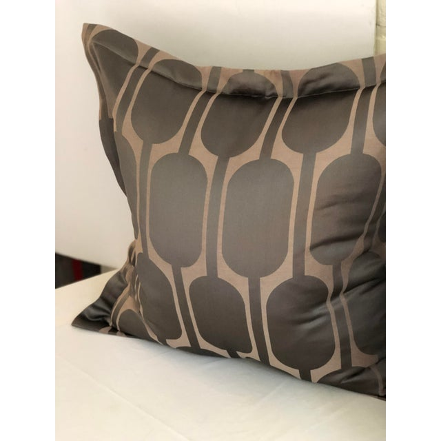 "Art Deco Pair of 24"" Pillows in Jim Thompson Black Parrot For Sale - Image 3 of 8"