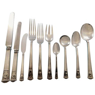 San Lorenzo by Tiffany and Co Sterling Silver Flatware Service Set 110 Pieces For Sale