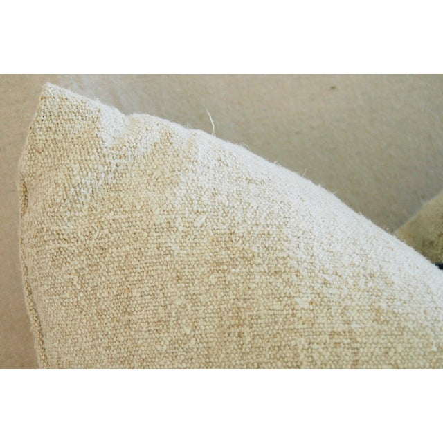 Blue Stripe French Grain Sack Pillow - Image 6 of 8