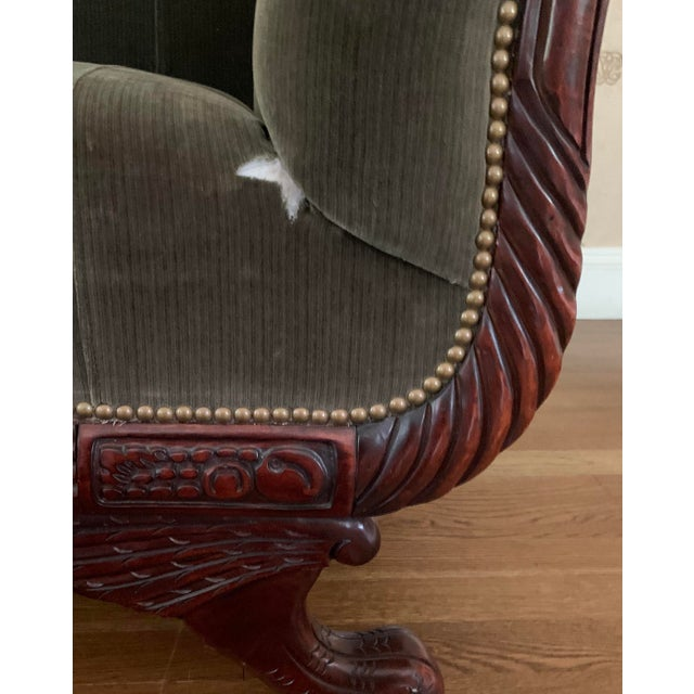 2000 - 2009 21st Century Vintage Tufted-Back Sofa For Sale - Image 5 of 11
