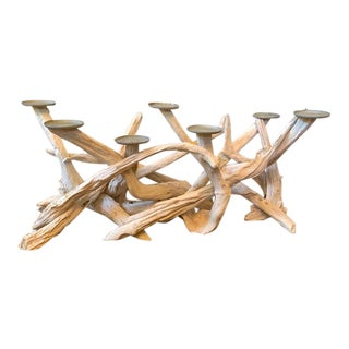 Contemporary Abstract Roost Driftwood Candelabra For Sale