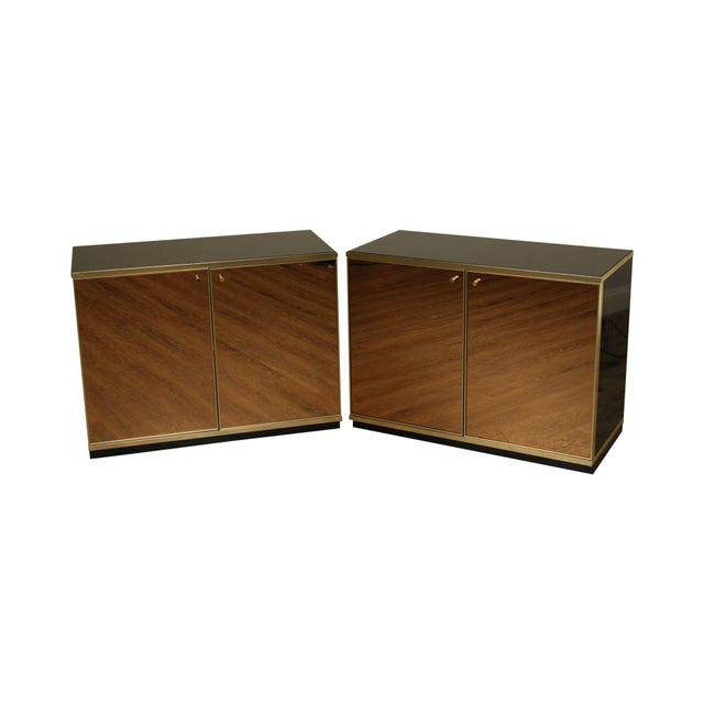 Contemporary Mirrored Door Cabinets - a Pair For Sale - Image 13 of 13