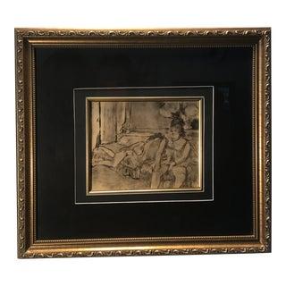 Vollard Etching Print After Edgar Degas, Framed For Sale