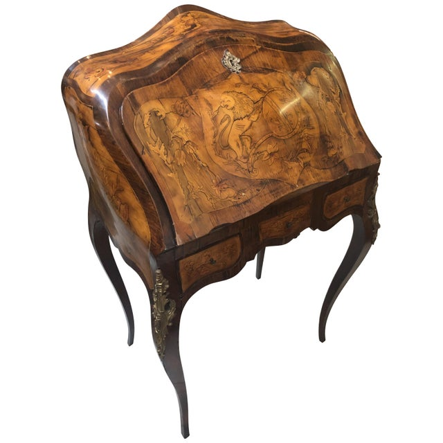 Inlay Marquetry Bombay Desk / Secretary For Sale - Image 10 of 10