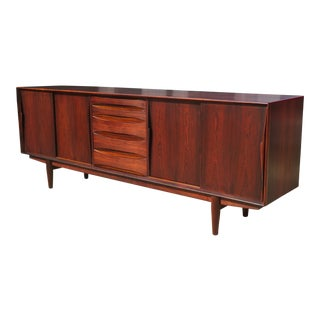 1960s Mid-Century Modern Rosewood Vodder or Omann Style Sideboard For Sale