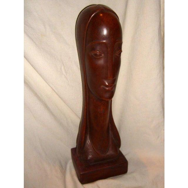 Plaster Bust by American Designer Rima For Sale - Image 9 of 9