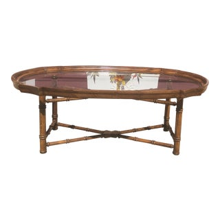 Vintage Drexel Tray Coffee Table For Sale