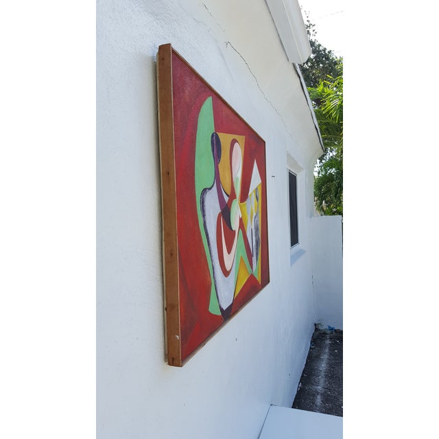 1977 Intermezzo Abstract Painting By Chester T. Kuziora - Image 8 of 11
