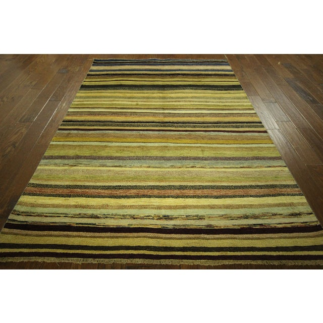 "Oushak Collection Striped Gabbeh Rug - 5'7"" x 8'1"" - Image 2 of 10"
