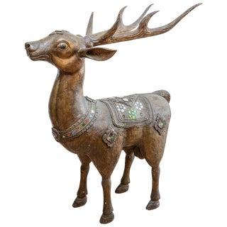 Burmese Figure of a Deer For Sale
