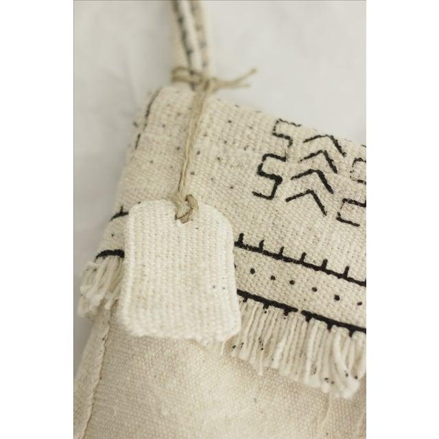 White Mudcloth Christmas Stocking - Image 4 of 6