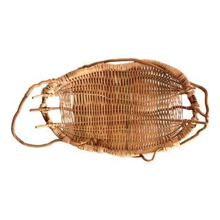 Vintage Handwoven Decorative Basket