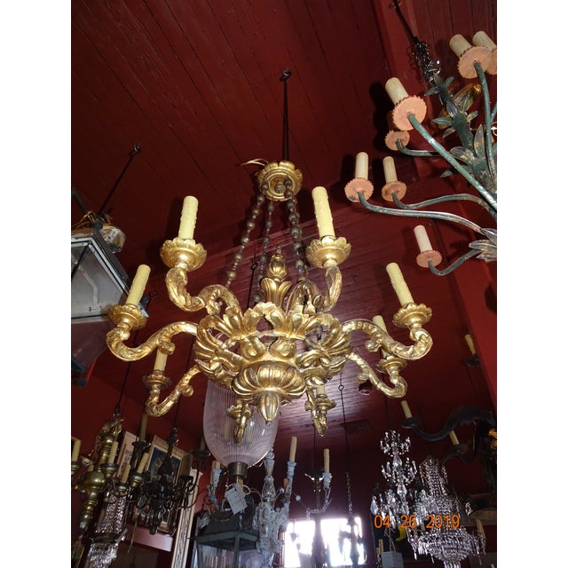 18th Century Venetian Gilt Wood Chandelier For Sale - Image 12 of 13