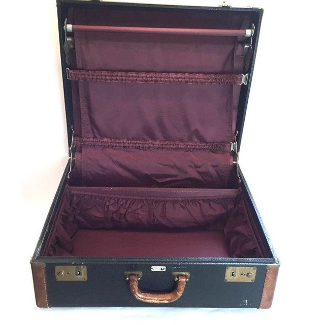 Vintage Suitcase with Burgundy Interior - Image 1 of 5