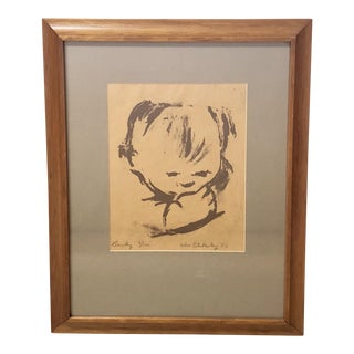 Original 1950 Signed William Blakesley Lithograph For Sale